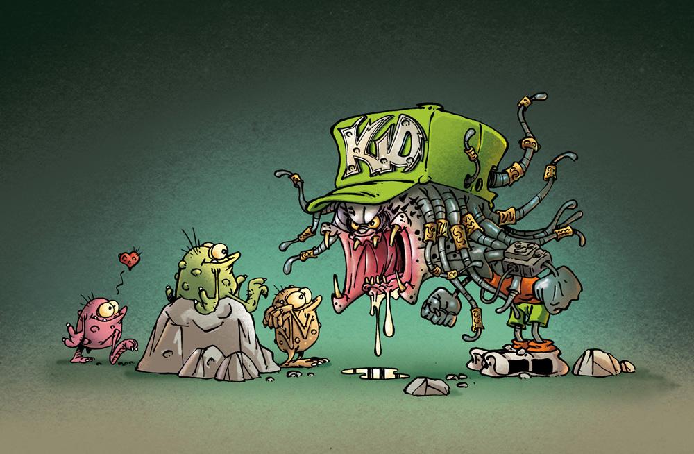 Kid Paddle Monsters