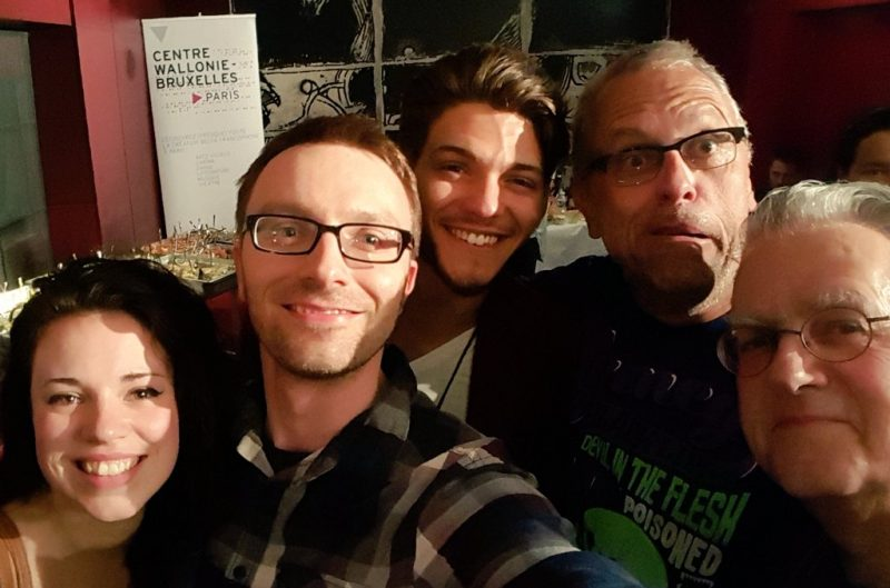 entouré de Lou, Rayane Bensetti, Zidrou et Christian Darasse
