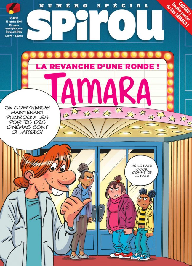 La couverture du journal Spirou spécial Tamara le film
